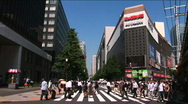 Stock Video Footage of Crossing in Hibiya