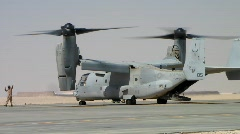 V-22 Osprey prepares for Takeoff c Stock Footage