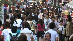 Japanese shoppers in Harajuku - Crowd of people, Tokyo, Japan Stock Footage