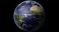 Rotating Planet Earth Loop HD 1080p Stock Footage