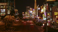 Vegas Strip 2010 time lapse north wide - 3 - zoom in Stock Footage