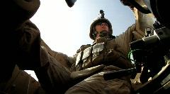 Marine Gunner in MRAP (HD) c Stock Footage