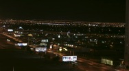 Las Vegas 2010 - night traffic north strip - 7 - west Sahara panorama narrow  Stock Footage