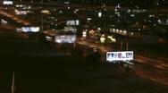 Las Vegas 2010 - night traffic north strip - 4 - pan across Sahara Blvd. Stock Footage