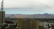 Las Vegas 2010 - Sunrise facing west - 4 - pan right narrow shot  Stock Footage