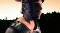T180 gladiator roman greek hoplite soldier fortune Stock Footage