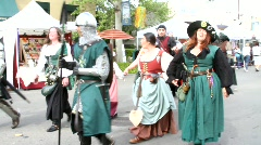 Medieval Festival Parade Stock Footage