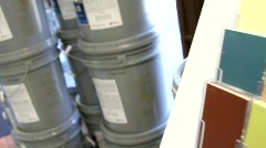 Paint Supply Store Stock Footage