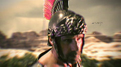 T180 gladiator roman general soldier retro old film Stock Footage