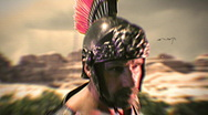 Stock Video Footage of t180 gladiator roman general soldier retro old film