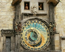 Prague Astronomical Clock Stock Footage