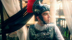 T180 I am sparticus rome roman soldier Stock Footage