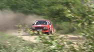 Classic rwd rally car opel Stock Footage