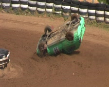 Stock Video Footage of autocross crash