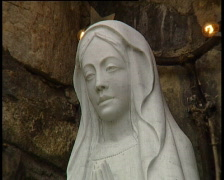 Our Lady Statue Stock Footage