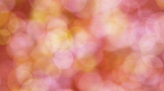 Loopable background pink yellow circle lights Stock Footage