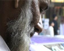 Old Man Making Paan on Streets of Karachi, Pakistan Stock Footage