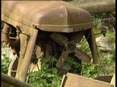 Scrap Tractors Stock Footage