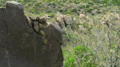 Rock Art Boulders Stock Footage