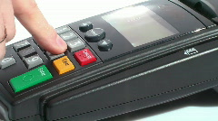 HD 1080 - Credit Card Terminal scene 02 - stock footage