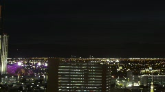 Las Vegas 2010 - night facing west - 3 zoom out  Stock Footage