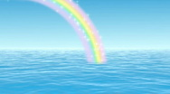 Stock Video Footage of ocean waves with sparkling rainbow