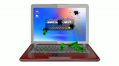 Infected laptop  - stock footage
