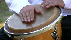 Drumming on conga drum 1 (720p) Stock Footage