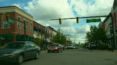 Main St Drive - stock footage
