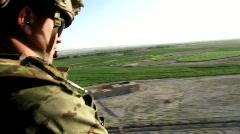Air Force Medic flies over Afghanistan (HD) c Stock Footage