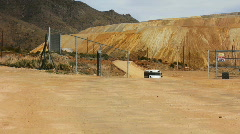 At the base of an open pit copper mine Stock Footage