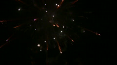 New Year 2009 Fireworks above the city with sound 3 (720p) Stock Footage