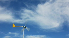 Infamous Nothing Arizona - 2 - micro power generator in high winds Stock Footage