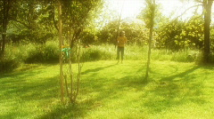 Skipping in the sun Stock Footage