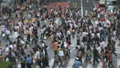 Tokyo Shibuya Crossing, Japan. Famous intersection outside Shibuya Station Stock Footage