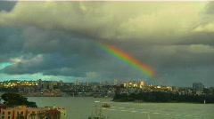 Rainbow Over Sydney Harbour Stock Footage