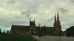 Sydney St. Mary's Cathedral Stock Footage