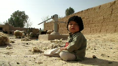 Stock Video Footage of Afghan Child alone (HD) c