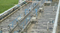 Stock Video Footage of Small waste water treatment facility