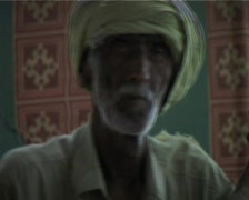 Old Crippled Beggar at Market in Karachi, Pakistan Stock Footage