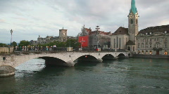 Zurich city in Switzerland - stock footage