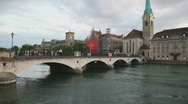 Zurich city in Switzerland Stock Footage