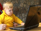 Stock Video Footage of baby with laptop