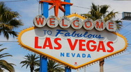 Welcome to Las Vegas - 3 - tilt up from left side Stock Footage