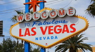Welcome to Las Vegas - 2 - tilt up from right side Stock Footage