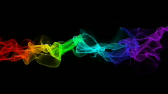 Rainbow smoke Stock Footage