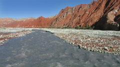 Glacier river desolate valley Stock Footage