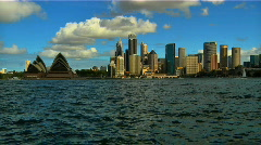 Sydney Opera House and City Skyline Stock Footage