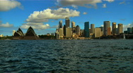 Stock Video Footage of Sydney Opera House and CitySkyline