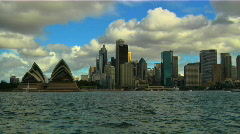 Sydney Opera House and CitySkyline 02 Stock Footage